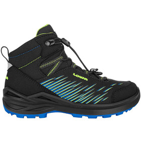 Lowa Zirrox GTX Mid Shoes Kids, black/lime